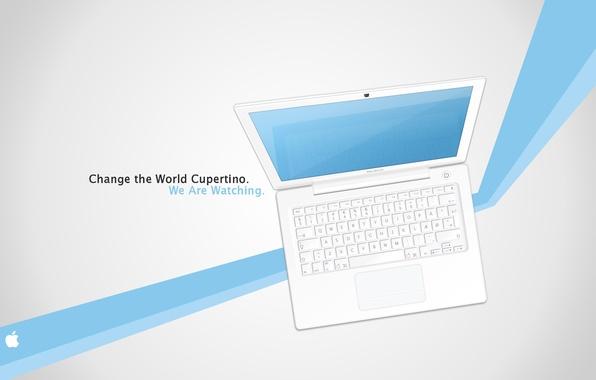 Картинка линии, полосы, надпись, обои, apple, MacBook, картинка, фирма, бренд