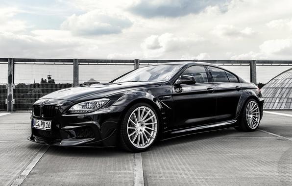 Картинка бмв, купе, BMW, черная, Black, Coupe, F06, Prior-Design