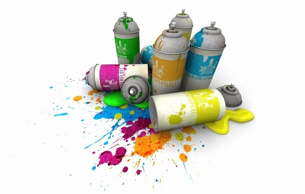 Картинка краска, цвет, Балончики