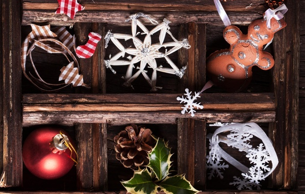 Картинка шарик, Новый Год, печенье, Рождество, шишка, Christmas, снежинка, New Year, Xmas, cookies, Merry, 2016, Natasha …