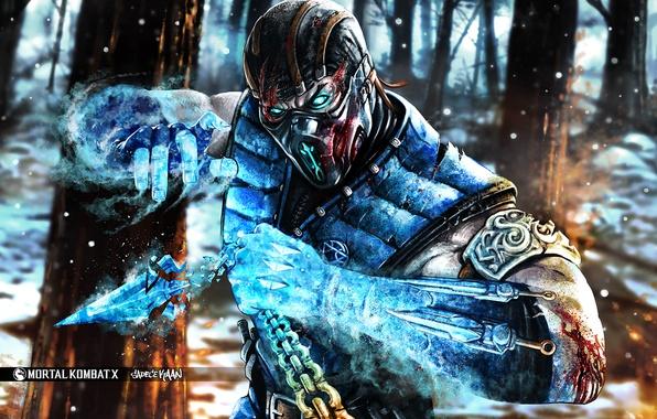 Картинка art, Sub-Zero, fighting, MortaL Kombat X