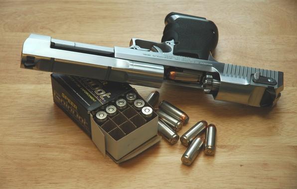 Картинка пистолет, патроны, Desert Eagle, Пустынный Орел