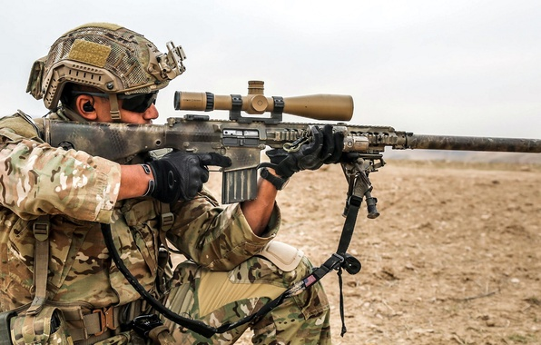 Картинка United States Spec Ops, Semi Automatic Sniper System, M1-10