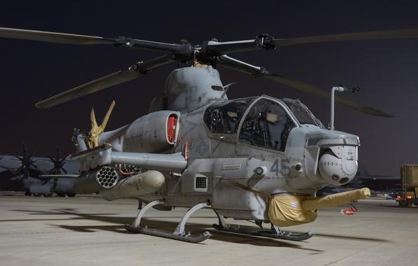 Картинка вертолет, Viper, аэродром, ударный, Bell AH-1Z, «Вайпер»