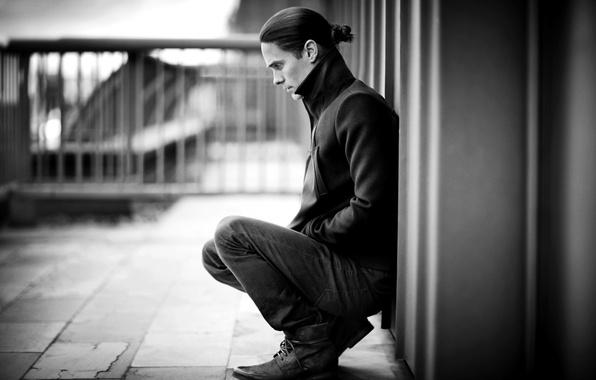 Картинка взгляд, актер, черно-белое, мужчина, музыкант, Джаред Лето, 30 Seconds to Mars, Jared Leto