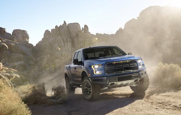 Картинка Ford, пыль, Форд, Раптор, Пикап, Raptor, F-150, предок