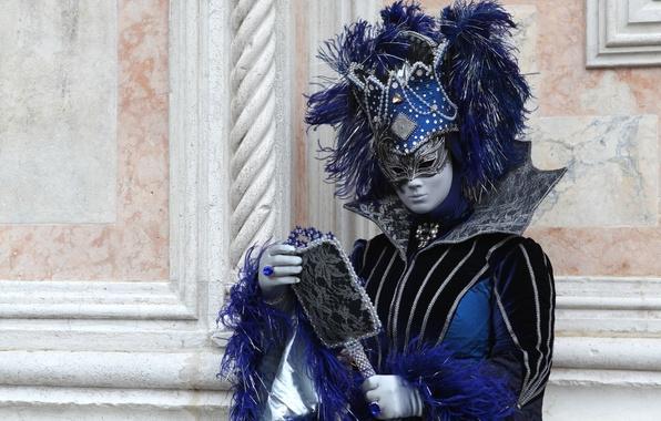 Картинка перья, зеркало, маска, костюм, Венеция, карнавал