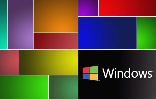 Картинка компьютер, цвет, текстура, логотип, эмблема, windows, операционная система