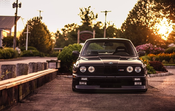 Картинка BMW, black, front, E30, 3 Series, Evoked