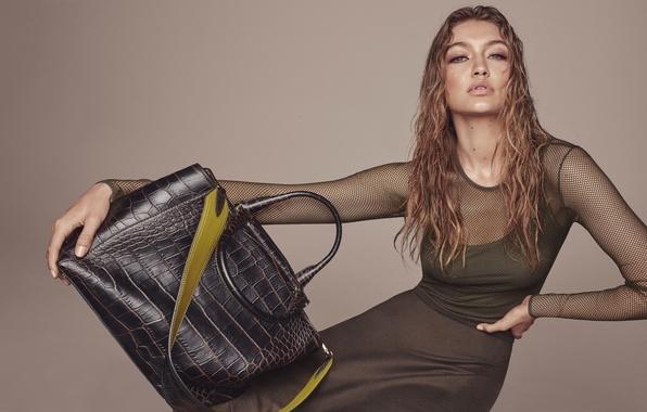 Картинка модель, сумка, Gigi Hadid, Джиджи Хадид