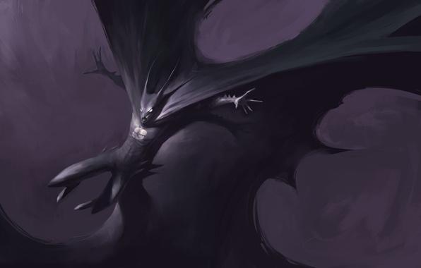 Картинка batman, плащ, art, dark knight