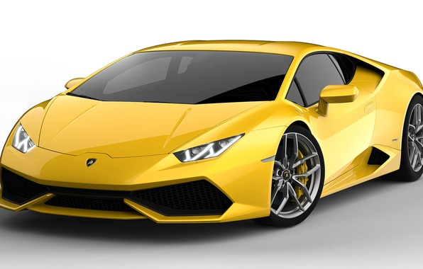 Картинка Желтый, Lamborghini, Ламборджини, Суперкар, Yellow, Supercar, LP 610-4, Уракан, Huracan