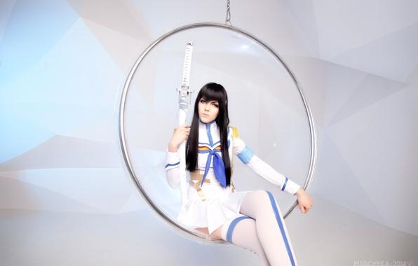 Картинка девушка, меч, форма, cosplay, Kill La Kill, Satsuki Kiryuin