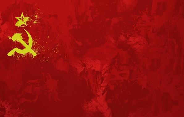 Картинка красный, флаг, СССР, flag