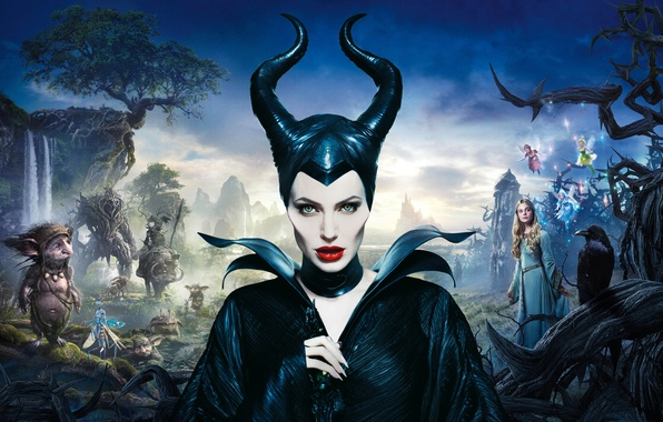 Maleficent movie angelina jolie brenton thwaites elle fanning