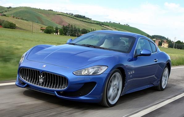 Картинка дорога, машина, Maserati, скорость, GranTurismo, Sport