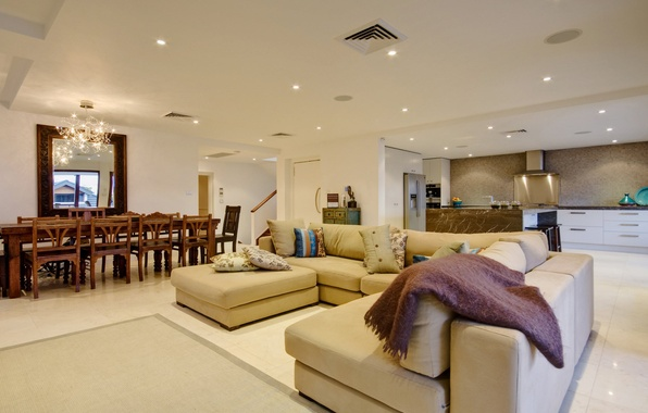 Картинка дизайн, дом, стиль, вилла, интерьер, кухня, коттедж, столовая, жилое пространство