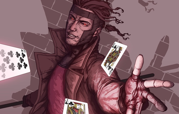 Картинка карты, X-Men, Marvel Comics, Gambit, mutant