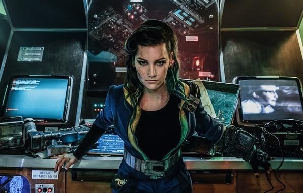 Картинка девушка, комната, игра, арт, fallout, косплей, cosplay, fallout 4