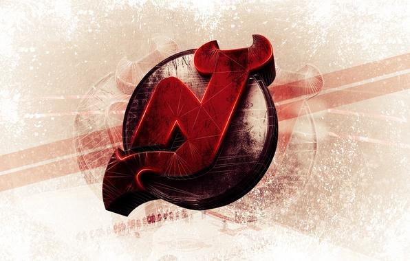 Картинка Логотип, Хоккей, Нью-Джерси, New Jersey, Devils, Дьявол, Hockey
