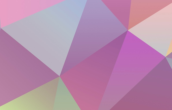 Картинка обои, цвет, геометрия, объем, фигуры, треугольник