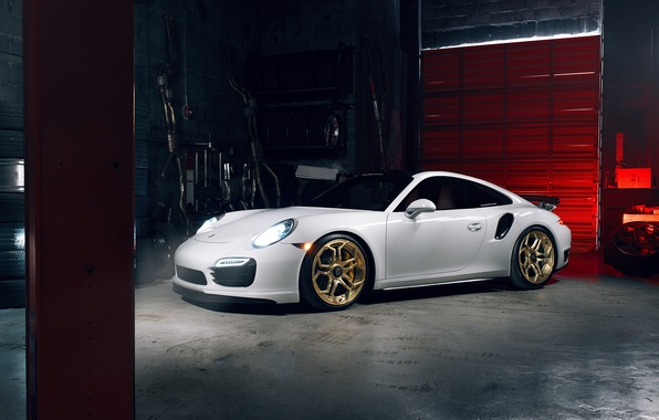 Картинка 911, Porsche, Light, Power, White, Supercar, Turbo S