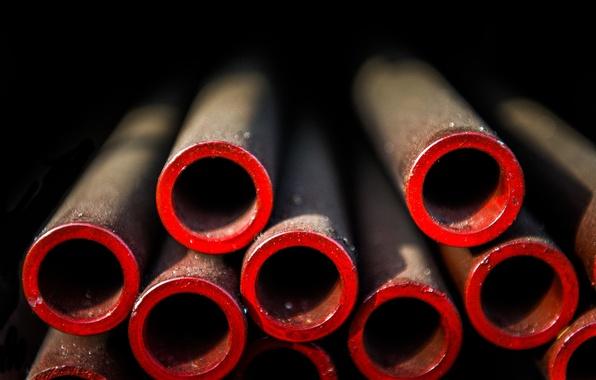 Картинка макро, металл, трубы, техно