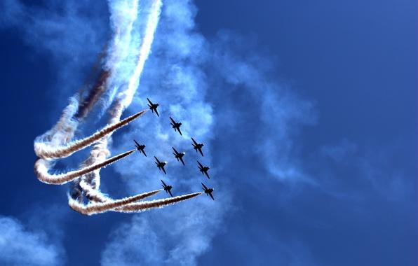 Картинка праздник, шоу, парад, самолёты, Airily show, воздушное, parade