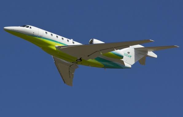 Картинка самолёт, Citation X, двухмоторный, средний, дальнемагистральный, турбовентиляторный, бизнес-класса, Cessna 750