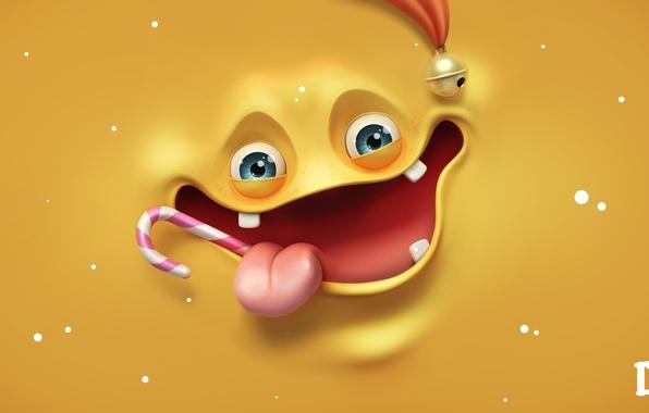 Картинка язык, лицо, леденец, smile, рендер, melaamory, весёлое