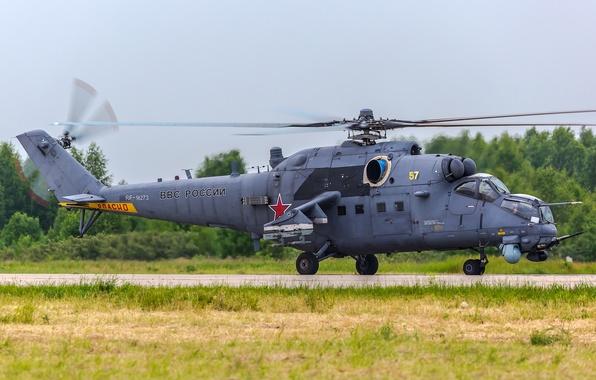 Картинка вертолёт, российский, транспортно-боевой, Ми-35М
