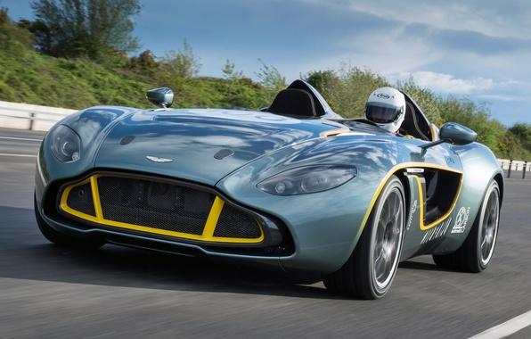 Картинка машина, Aston Martin, концепт, вид спереди, CC100, Speedster Concept