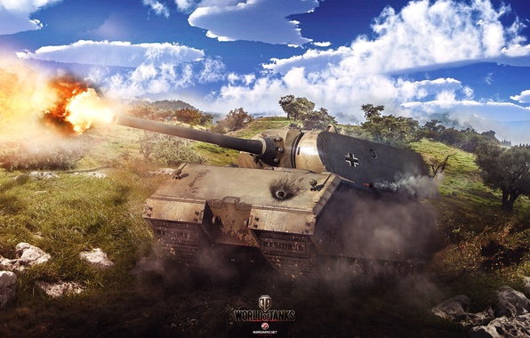 Картинка Игры, World of Tanks, Maus, Wargaming Net, FuriousGFX, Маус
