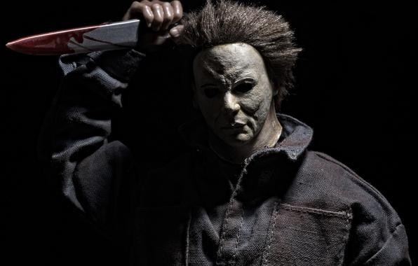 Картинка игрушка, маска, нож, Halloween, майкл майерс