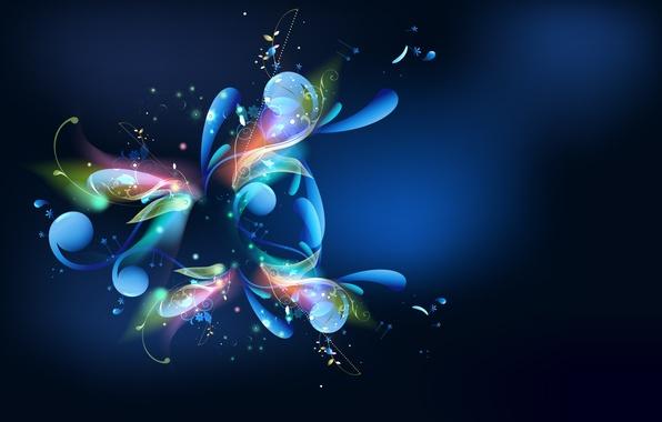Картинки фото синий свет узоры цвета