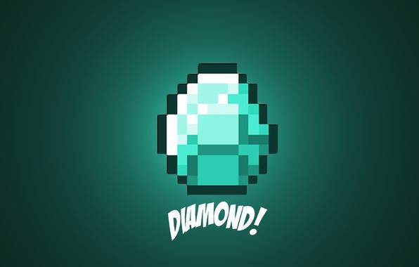 Обои картинки фото minecraft, маинкрафт, diamond, алмаз, игра