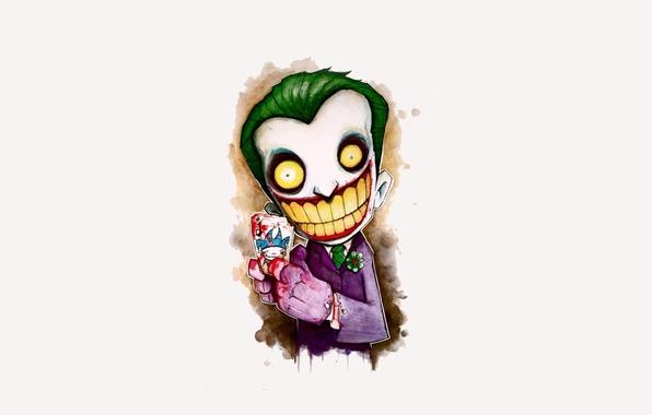 Картинка улыбка, batman, джокер, рисунок, карта, бэтмэн, joker