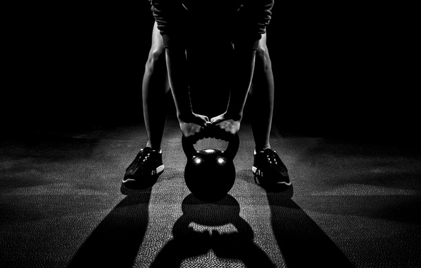 Картинка man, pose, workout, shades, crossfit, kettlebell