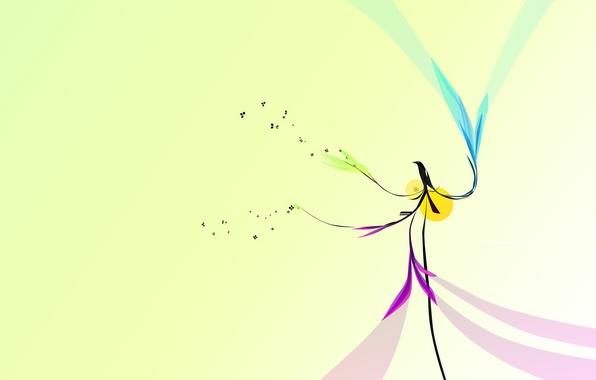 Картинка дизайн, птица, минимализм