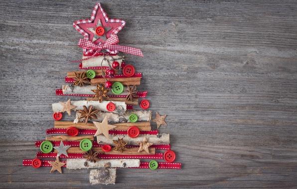 Картинка украшения, елка, Новый Год, Рождество, Christmas, vintage, wood, tree, decoration, Merry