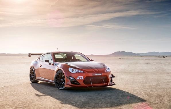 Картинка оранжевый, тюнинг, Toyota, tuning, front, orange, Scion, сцион, fr-s, фр-с