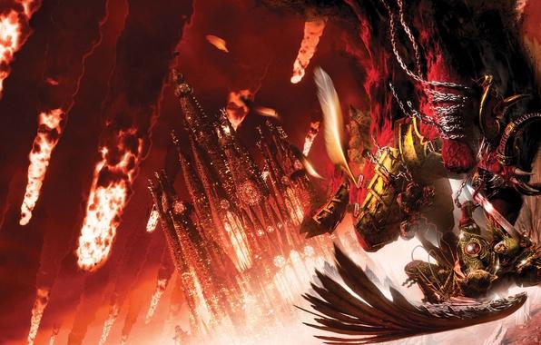 Картинка Horus Heresy, Warhammer 40000, схватка, James Swallow, Fear to Tread, Примарх, Сангвиний, Осада Терры, Кровопийца …