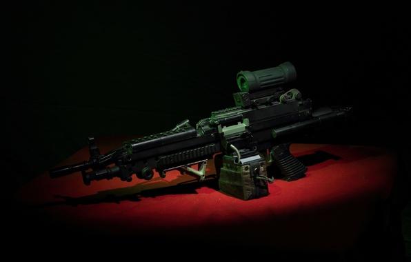 Картинка оружие, пулемёт, ручной, M249, Minimi
