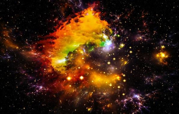 Картинка космос, звезды, вселенная, space, Universe, background, stars, astral