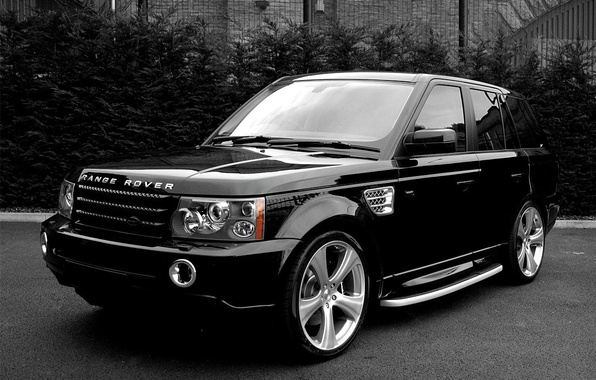 Картинка черно-белая, джип, внедорожник, Land Rover
