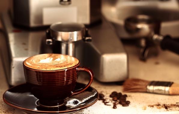 Картинка кофе, чашка, напиток, аромат, зёрна, Coffee