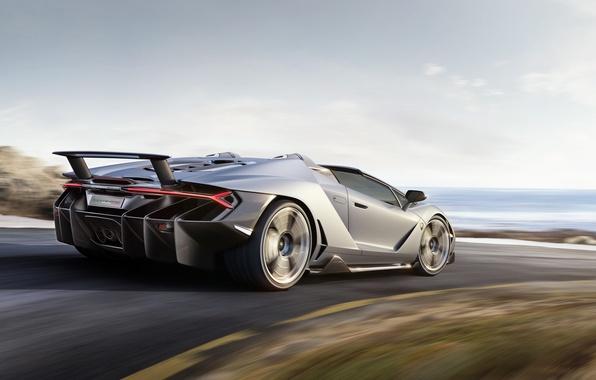 Картинка дорога, car, авто, небо, Roadster, скорость, Lamborghini, speed, ламборгини, Centenario