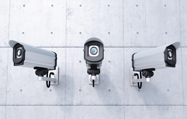 Фото обои wall, control, security, security cameras