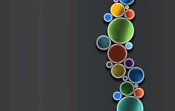 Картинка пузырьки, краски, круг, кольцо, цепочка