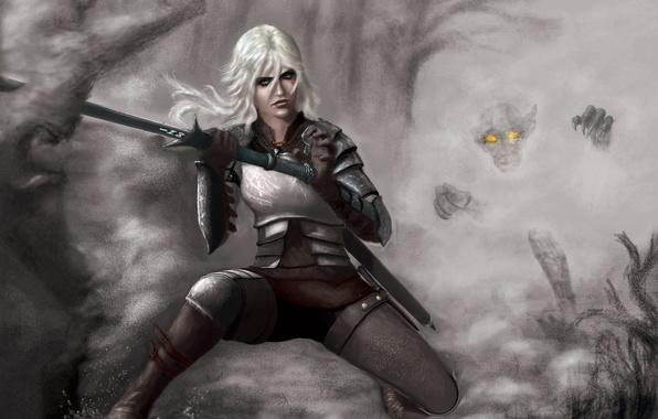 Картинка меч, art, witcher, CD Projekt RED, The Witcher 3: Wild Hunt, Ведьмак 3: Дикая Охота, …